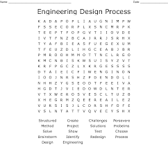 Engineering Design Process Test Answers Engineering Design Process Word Search Wordmint