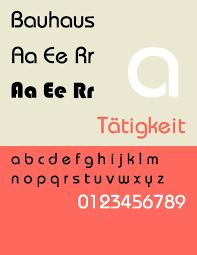 Bauhaus Font Equivalent