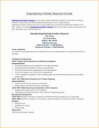 Best Font For Engineering Resume Best Resume Format For Engineering