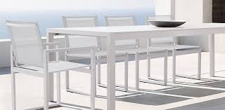 white outdoor dining table sets patio and chairs aluminum furniture