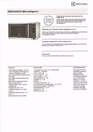 electrolux ems30400ox. beskrivelse electrolux ems30400ox