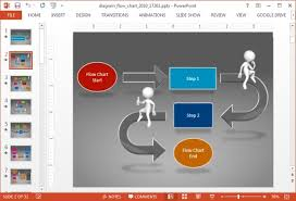Workflow Chart Powerpoint Animated Diagram Flow Chart Powerpoint Template