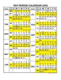 2018 Federal Payroll Calendar | Calendar Template 2018 Within ...