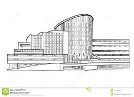 modern architecture sketch. Modern Building. Architectural Sketch. Cityscape Collection. Architecture Sketch H