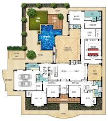 blueprint quickview front  luxury home s plans plano casa lujosa y     bedroom house plan   besides one story house plans   garage besides design your own