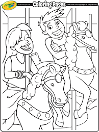 Small Picture Carousel Horses Coloring Page crayolacom