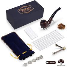 Tobacco Pipe Designs Smoking Pipes For Tobacco Accessories Set Premium Quality Tobacco Pipe Kit For Beginner Handmade Wood Design With Windproof Bowl Provides A