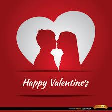 Happy Valentines Card Design Vector Free Download