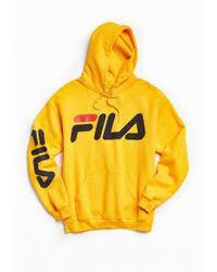 fila hoodie mens. fila | script hoodie sweatshirt lyst mens