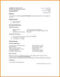 12 Basic Cv Templates Student Credit Letter Sample