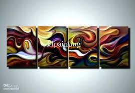 wall art set of 4 amazing canvas metal piece on decor l wall art set of 4