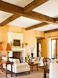 choosing rustic living room. Peacy/yellow Walls Rustic Beams - PAINT COLOR Option For Walls, To Go With WOOD TRIM!!! Choosing Living Room