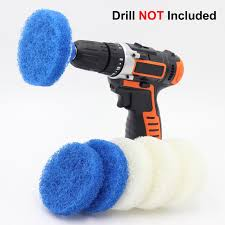 cooptop bathroom kitchen cleaning drill brush set power scrub pad cleaning kit power scrubbing drill