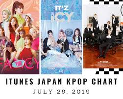 Itunes Japan Itunes Kpop Chart July 29th 2019 2019 07 29