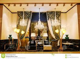 Show Window Lighting Luxury Lighting Furniture Shop Window Stock Image Image Of