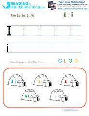 Print the letter i and i on a piece of paper. Printable Phonics Worksheets And Activities For Preschool Children Phonics Phonics Worksheets Learning Letters