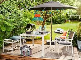 outdoor ikea furniture. The Modern, Outdoor SJÄLLAND Table, Chairs And Bench In Dark Grey On A Terrace Ikea Furniture O