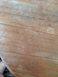 how to refinish a teak laminate table