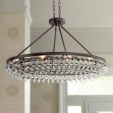alert famous lamps plus chandeliers regina olive bronze 19 wide crystal chandelier