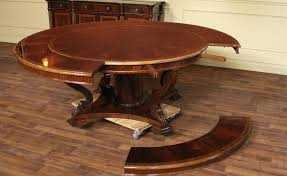 image of expandable round dining table plans