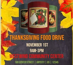 Food Drive Flyers Templates 42 Free Thanksgiving Food Drive Flyer Template