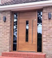 wooden front door with glass panels doors wooden front doors front door home depot contemporary wooden