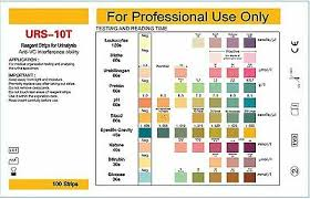 Urine Dipstick Chart Uk 100 Urine Test Strips 10 Parameter Ketone Infection Liver Ph