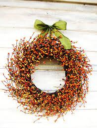 Fall Wreath-Fall Decor-Autumn Wreath-ORANGE & YELLOW Berry