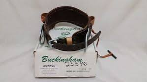 Buckingham Climbing Belt Size Chart Details About Buckingham Linemens Body Belt Leather New Old Stock