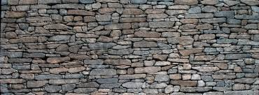 dry stacked dry stone wall natural