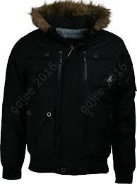 mens kangol padded hooded parka jacket bemford faux