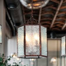 4 bulbs lantern pendant lamp retro