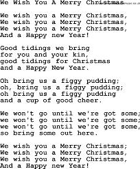 Catholic Hymns, Song: We Wish You A Merry Christmas - lyrics and PDF