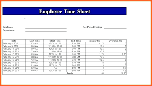 Employee Time Sheets Excel Timecard In Excel Spreadsheet Excel Timecard With Lunch Break