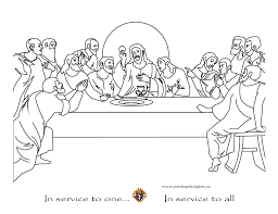 Small Picture The Last Supper Coloring Page Printable Coloring Pages Last Supper