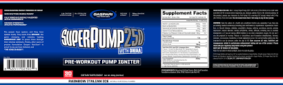 superpump 250 by gaspari nutrition supplement facts italian ice