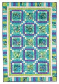 Batik Fabric Quilt ~ great color combinations of blues, greens and ... & Batik Fabric Quilt ~ great color combinations of blues, greens and white  with this pattern Adamdwight.com