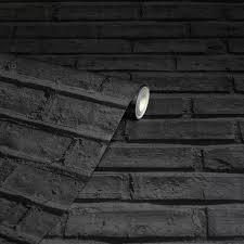 arthouse black brick paper non pasted