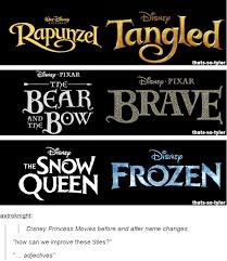 Disney Princess Movies before and after name changes | Disney ... via Relatably.com