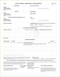 Word Bill Of Lading Template Straight Bill Of Lading Template Uniform Pdf Free Form Lastcolor Co