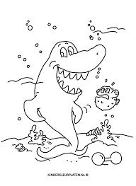 Haai Kleurplaat