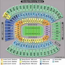 Cleveland Brown Stadium Seating Chart First Energy Stadium Seating Chart View From My Seat
