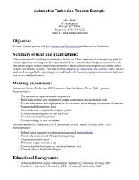 Automotive Technician Resume Skills Free Resume Templates