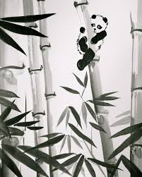 custom made sumi e ink painting zen style home decor and stationary