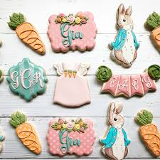 Peter Rabbit Design Peter Rabbit Baby Shower Cookie Design Inspired By A Set