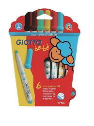 Giotto BEBE' Super Fibre Pens <b>6 цв</b>. Детские <b>фломастеры</b> с ...