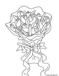 Coloriage Bouquet De Fleurs Roses Dessin Coloriage Bouquet De Fleurs A Imprimer Dans Les Coloriages St L