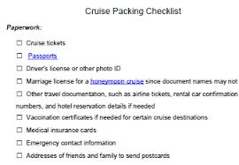 Free Packing List For Cruise Ship Travel
