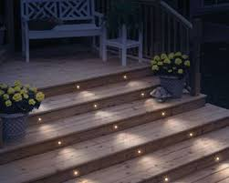 deck stair lighting ideas. Lighting Your Deck Stairs Is An Easy Way To Add Outdoor Decor, And It Prevents Tripping.--LOVE The Width Of Recessed Lighting! Stair Ideas E