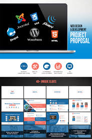 Project Proposal Presentation Ppt Web Design Development Project Proposal Powerpoint Template